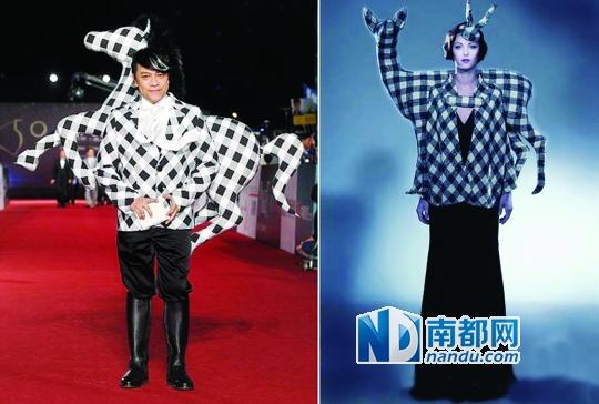 蔡康永的造型被指抄袭国外设计师.