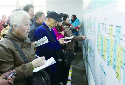 记者赵天羿摄 济南市历史上最大规模公租房选房仪式今日正式开始