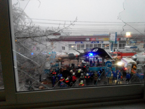 30日无轨电车爆炸案的现场。