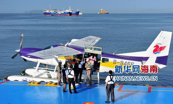 三亚:水上飞机启航