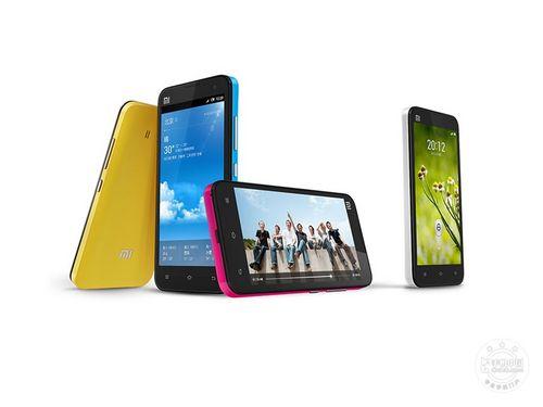 小米手机2s采用了常见的直板全触控造型,前黑后白色颜色组高清图片