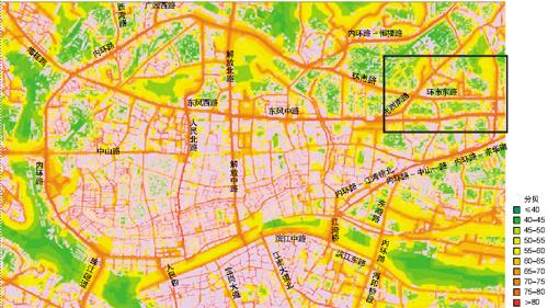 广州噪声地图|城市环境|高架路