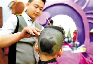 小男孩苹果发型图片展示图片