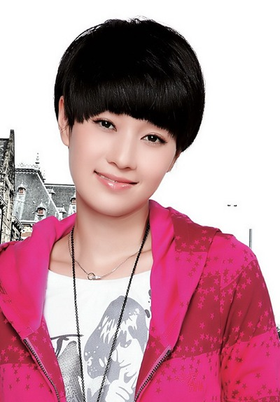 a图片图片头十八岁男孩烫发蘑菇发型图片