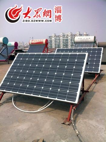 瓦的太阳能电池板