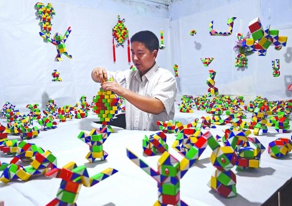 魔尺24段玩法图解 魔尺变球图解 百变魔尺 魔尺48段 魔尺36段玩法图解