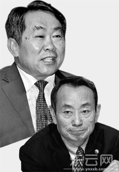 郭永祥(上)据称对蒋洁敏多有照拂。资料图