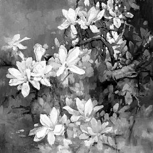 林贞姬的绘画主题都是花,尤以自然生态的小花和野花为主,一束束,一簇