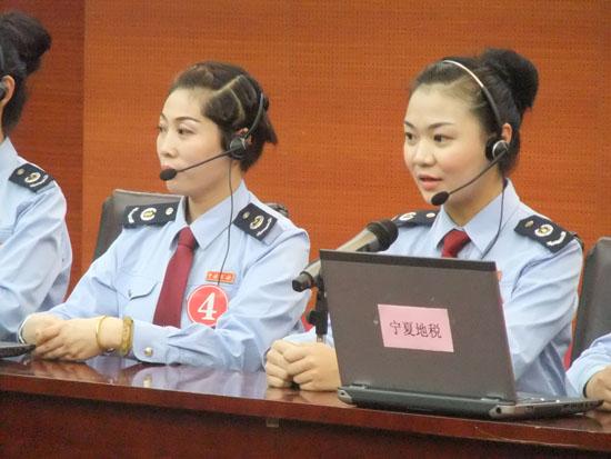 宁夏地税12366纳税服务热线接线员们