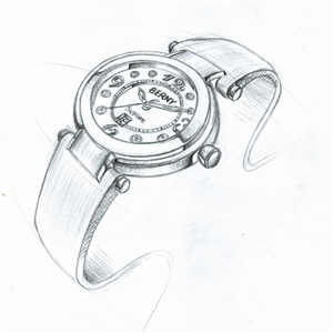 国产时尚腕表 手绘图