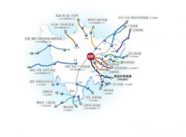 巴陕高速公路线路图