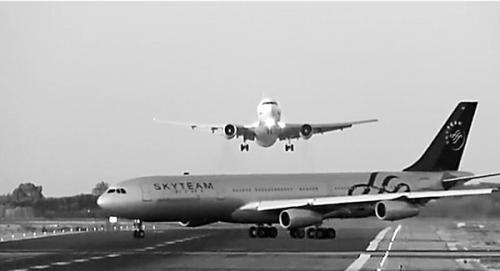 西班牙巴塞罗那机场起降航班险相撞|飞机|航空_凤凰