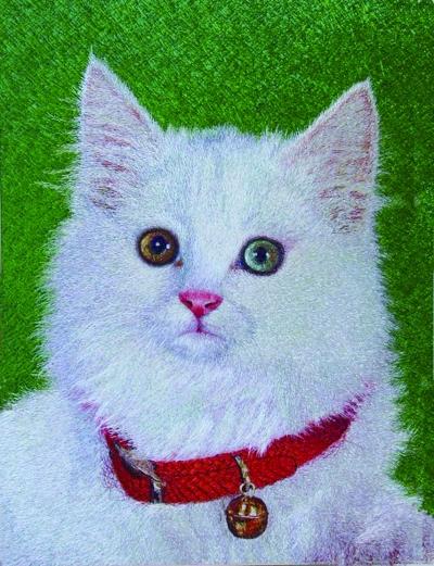 美术可爱的小猫