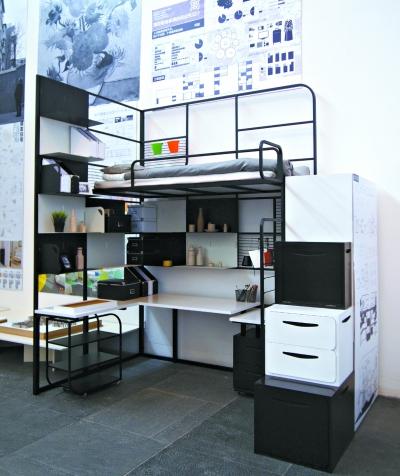 清华美院毕业生黄润生设计的学生宿舍家具