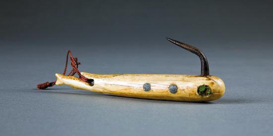 艺术鱼钩矢量图