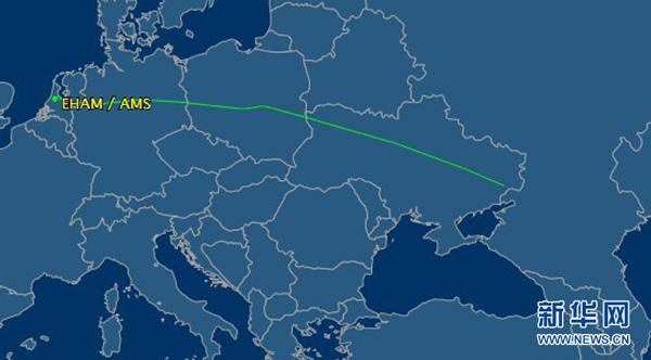 数据监测网站flightaware关于失去联系的马航飞机飞行轨迹记录的截屏.