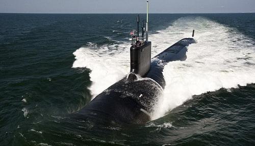 被驱赶的美军潜艇资料照片(图片来自美国海军网站)