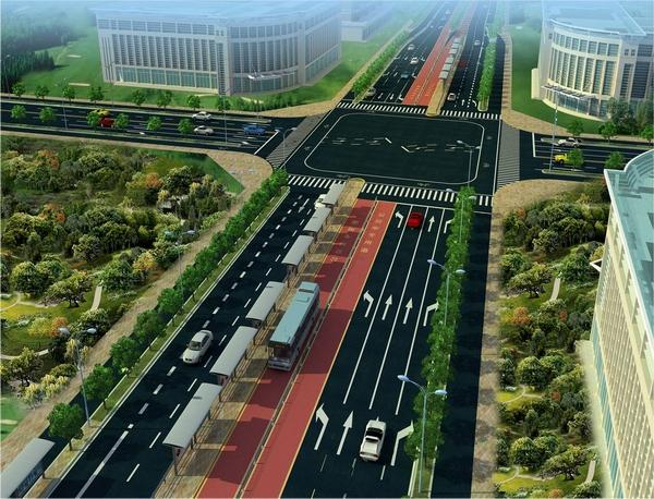 望江路沿线公交站台设置规划