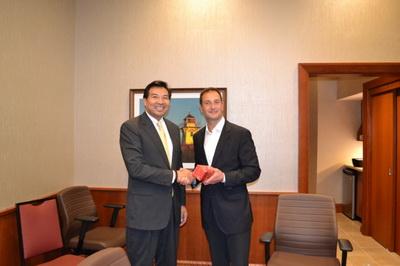 罗大使会见吉兹省长