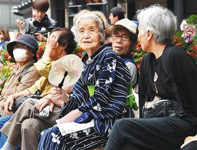 日本65岁以上老人占总人口四分之一 日本 东京