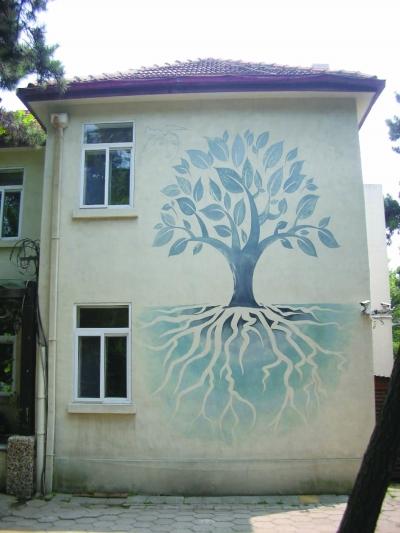 墙体彩绘|江阴|大树_凤凰资讯