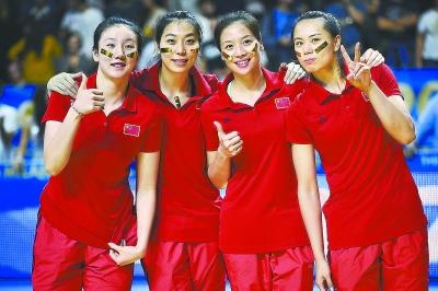 中国女排队员合影高清图片