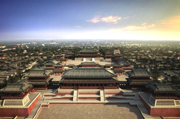 大唐帝国的宫殿,是当时的政治中心和国家象征,位于唐京师长安(今西安)图片