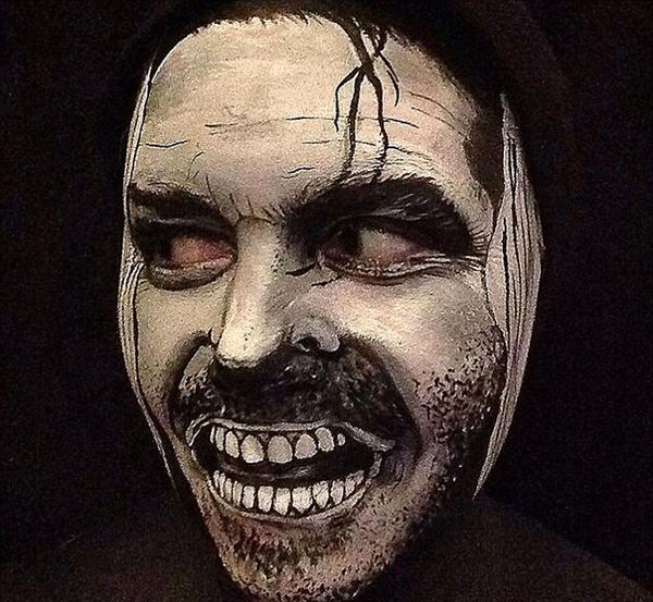 小丑妆素描铅笔画