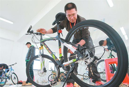看谁的自行车组装快