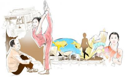 芭蕾女孩 从路灯下跳上大舞台