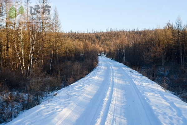 清新冰雪风景图片