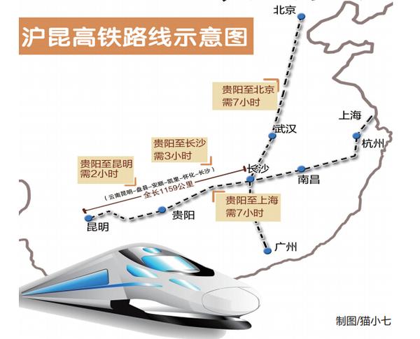 路局获悉:沪昆高铁贵阳至长沙段预计将于今年6月开通运营.届时