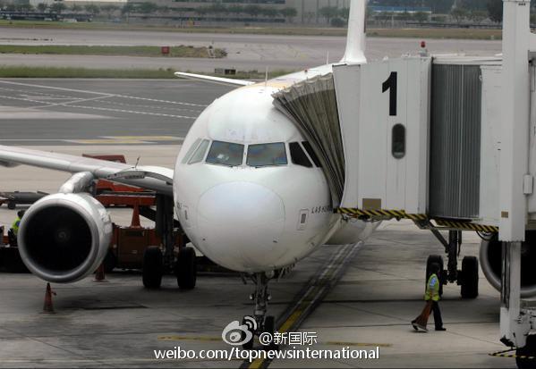 飞机从西班牙巴塞罗那飞往德国杜塞尔多夫