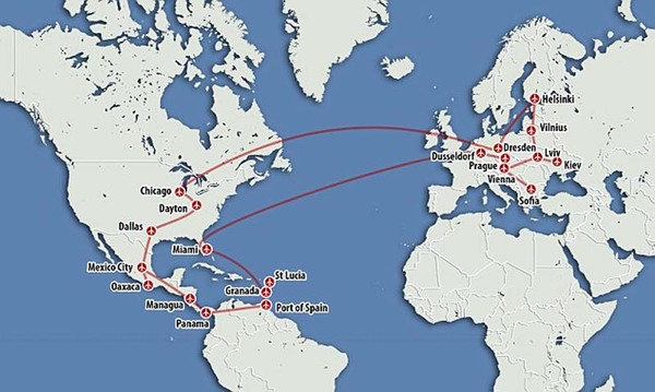 美国男子巧用信用卡积分 免费乘飞机游览13国(组图)