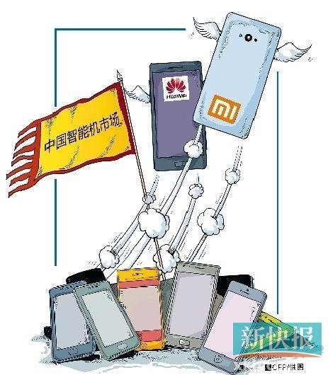 小米手机小视战白热化华为、国产争第一|手机手机微信排名频不存到苹果里图片