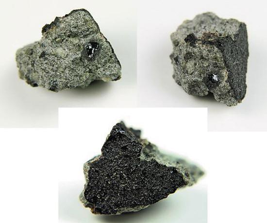 这块标本正是2011年7月18日被目击坠落的火星陨石.三张图是它的三图片