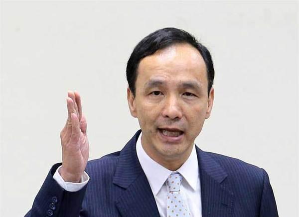 """国民党主席朱立伦批评蔡英文""""假话太多了""""。(图片来自台媒)"""