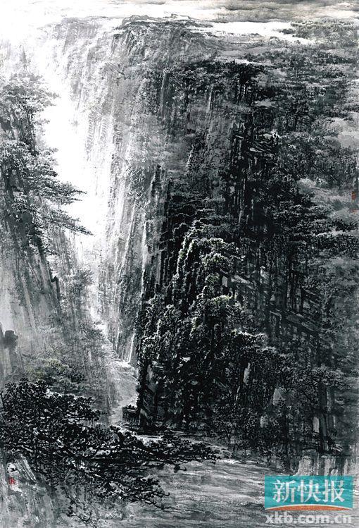 峡谷简笔画图片大全