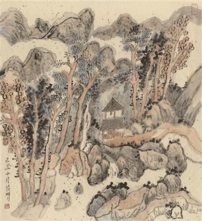丘壑有灵|纸本|中国画_凤凰资讯