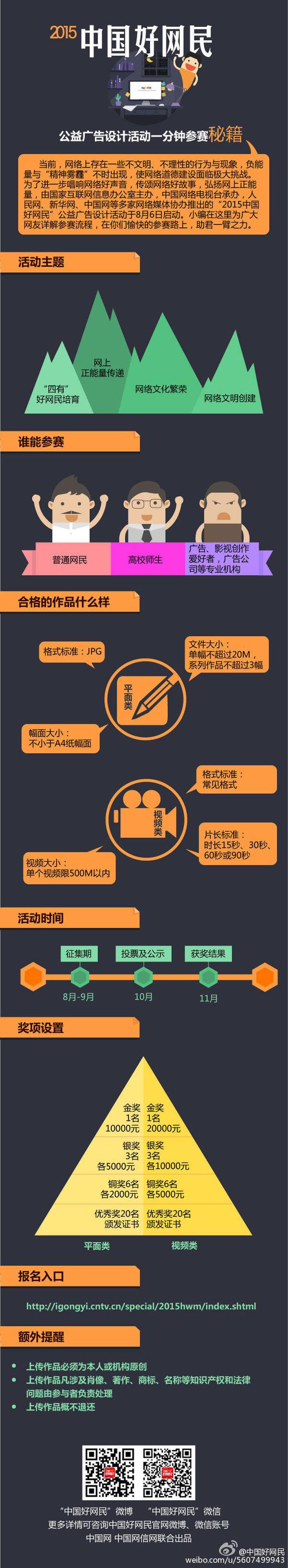 """图解:""""2015中国好网民""""公益广告设计活动一分钟参赛图片"""