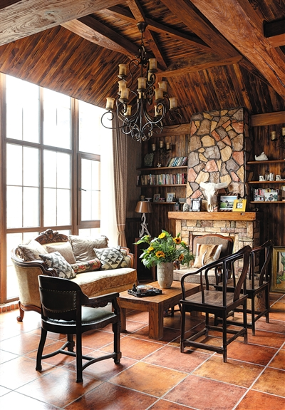 木头房梁结构图