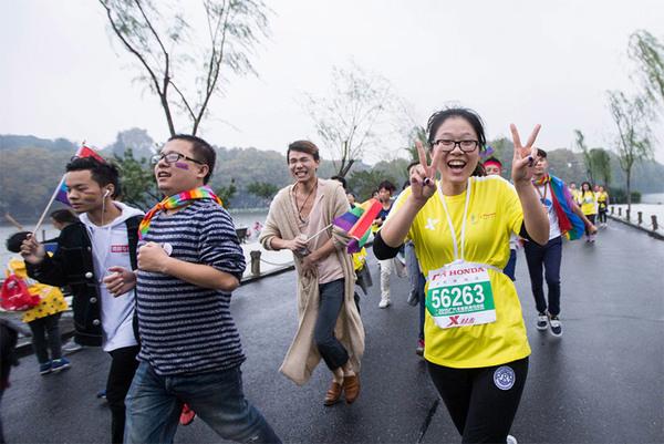 清杭州马拉松选手化