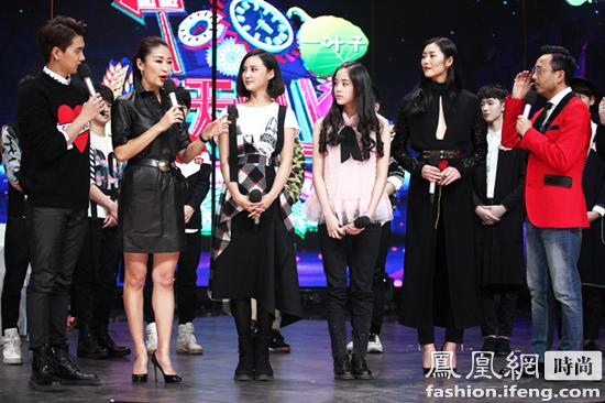 张歆艺与梁静,欧阳娜娜,刘雯齐上综艺节目《天天向上》