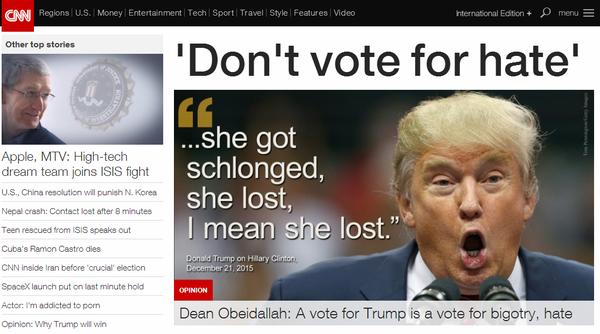 CNN网站首页截图