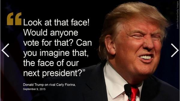 新闻海盗CNN、环球网站惺惺相惜:川普狗脸这么丑 怎配当总统!
