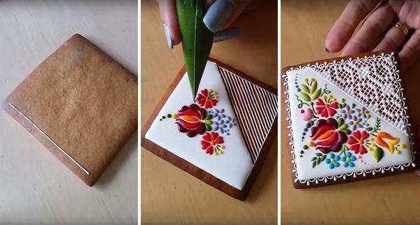 匈牙利甜品店以刺绣为灵感做饼干 个个宛如艺术品(组图)图片