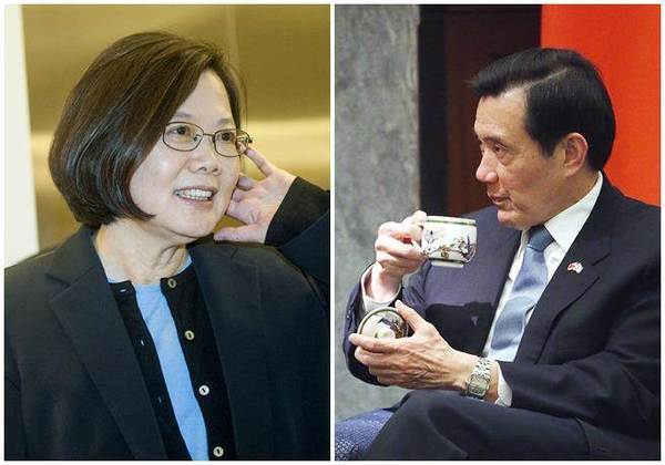 """民进党台湾地区领导人当选人——蔡英文今天(9日)启动""""在野政党领袖拜会之旅"""",第一个拜会的就是亲民党主席宋楚瑜."""