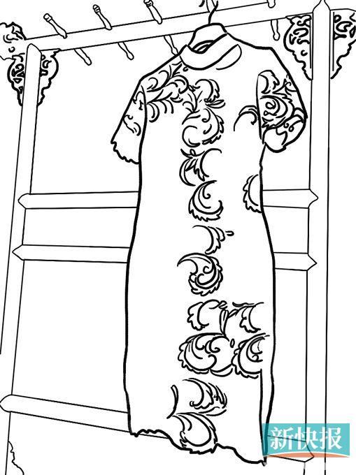 旗袍设计手绘款式图