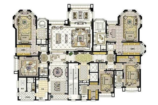 经典回顾!星河湾半岛 五卧室全套房设计