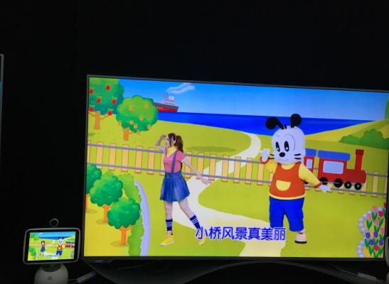 (小鱼与乐视超级电视的交互场景1)